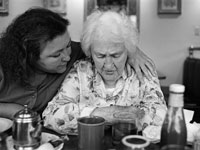 The typical caregiver for an older adult is an employed woman who cares for her mother.
