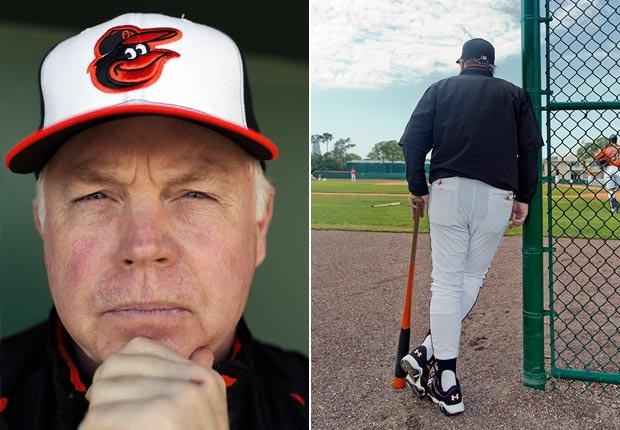 Buck Showalter gerente de los Orioles de Baltimore - Gerentes veteranos de béisbol.