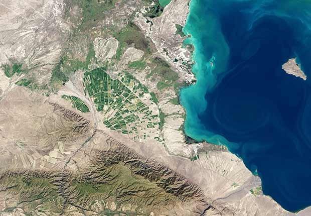 Imagen satelital de una parte del planeta tierra