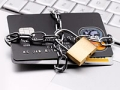Credit cards chained with padlock, Protect your credit in a divorce