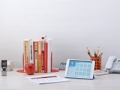 Home desk setting with various work-related objects placed on it, Chatzky on the best work-from-home jobs (Mark Lund; Prop Stylist: Lisa Edsälv)