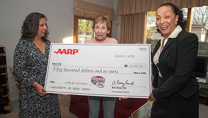 Karen receives retirement sweepstakes check for $50,000