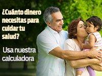 Abuelos con su nieta - Calculadora de costos de salud