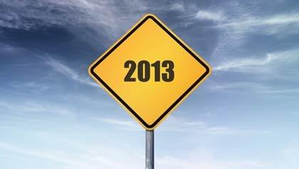 Señal de transito con la fecha de 2013 - Qué cambios en el Seguro Social viene para el 2013