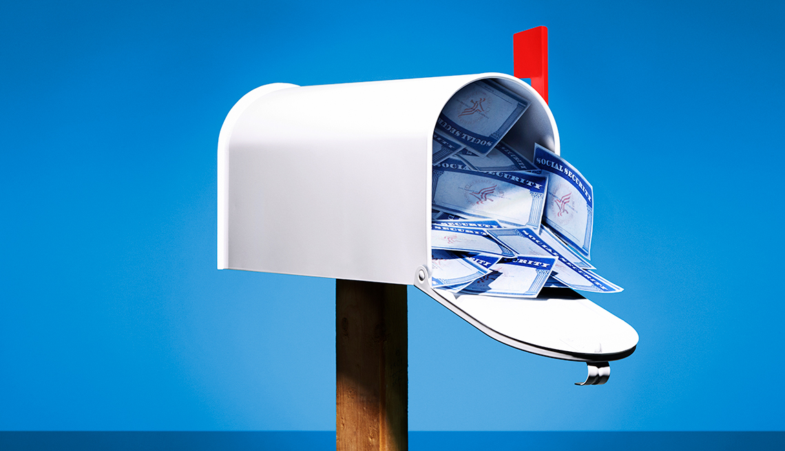 social security cards, mailbox, changes to Social Security program