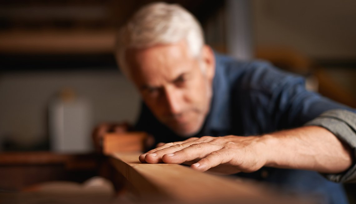 Man Working on Wood, Discover Your Strengths and Talents, Work, Career Change, AARP