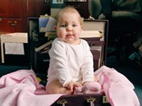 baby in briefcase – Grandparents babysit and lose their jobs