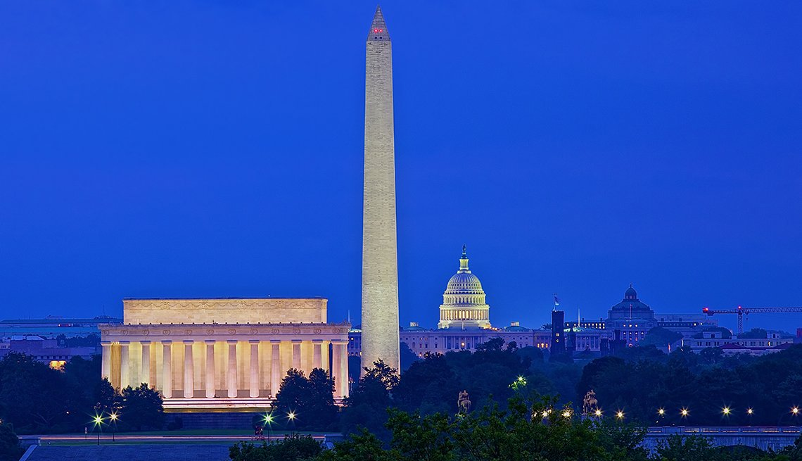 Skyline of Washington D C