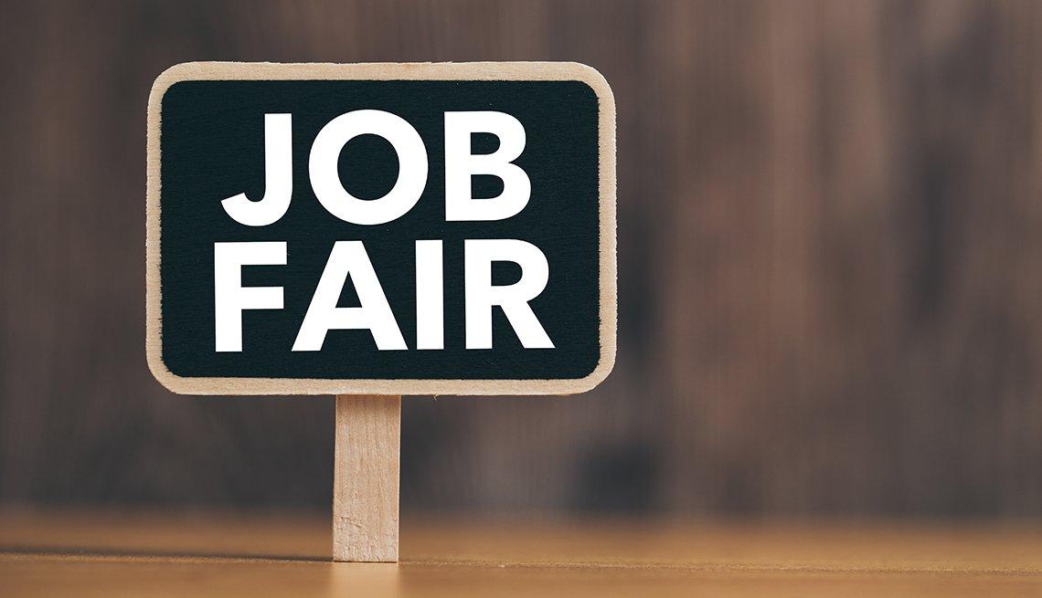 A sign that says job fair