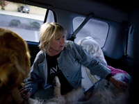 Barbara Harvey lived in her car with her dogs in 2008 - recession survivors