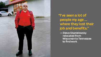 Steve Stanislowsky relocated from Wisconsin to Tennessee to find work - recession survivors