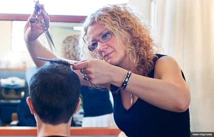 Hairdresser trimming customer's hair, Jobs in Demand for 2014