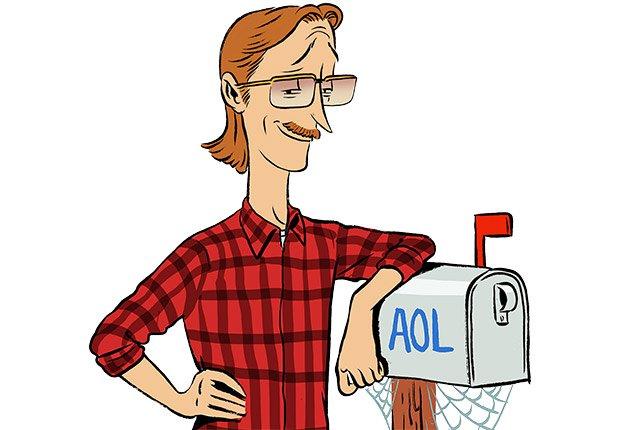 Ilustración hombre con un brazo sobre un buzón de correo  - Errores al buscar trabajo