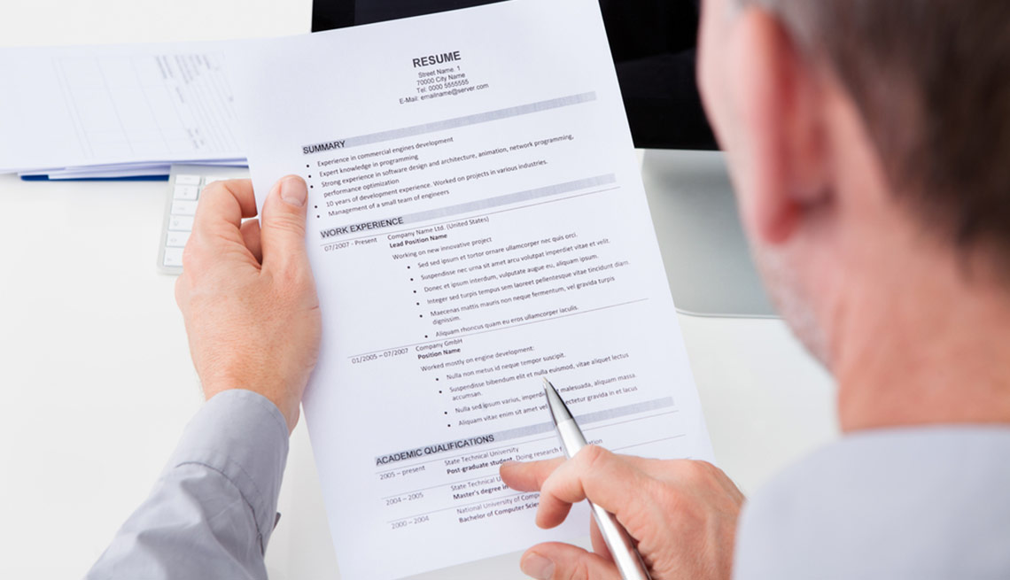 This job seeker works on creating the perfect resume