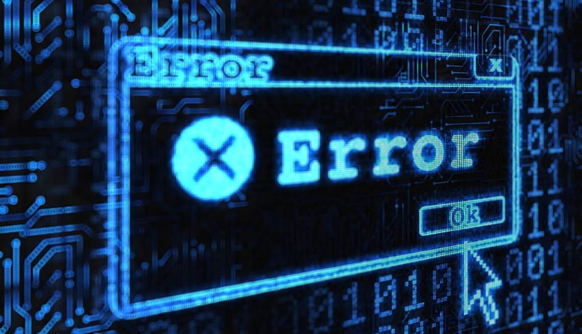 Entrevista de trabajo por video - Consejos - Error window