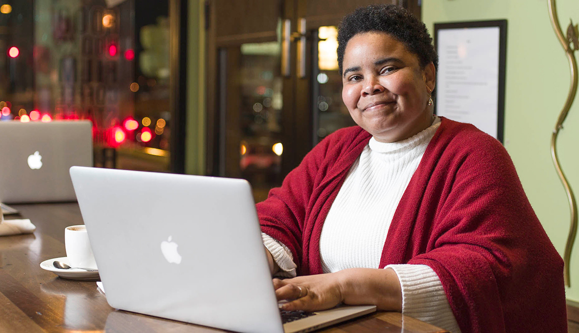 Deana Butts has a second career a teleworker