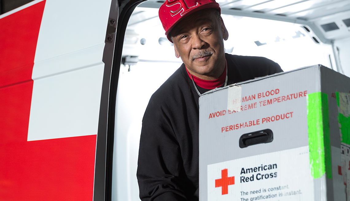 Michael Johnson, a former volunteer hired by the Red Cross in St. Louis