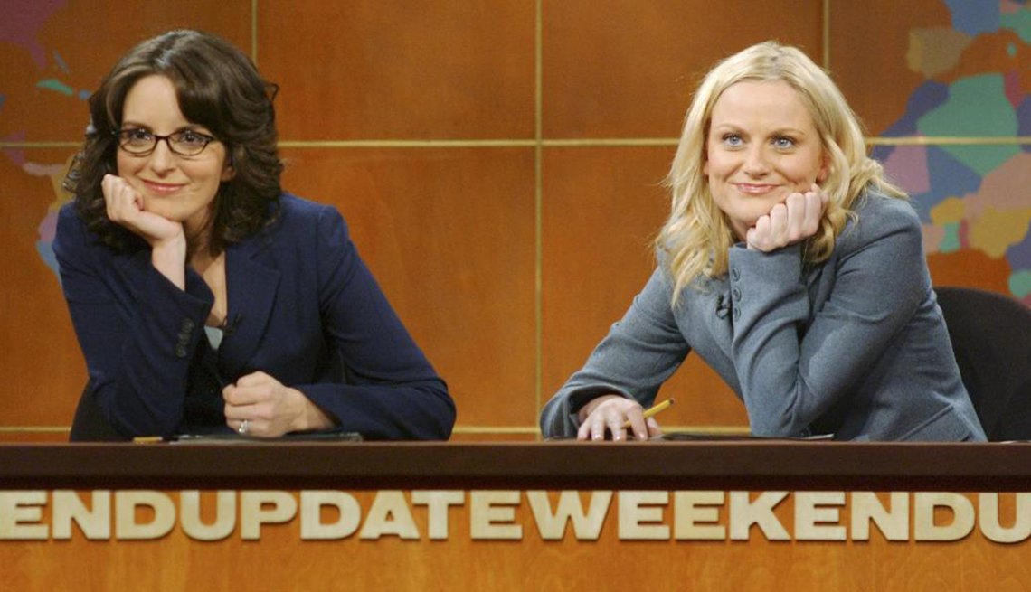 Comedians Tina Fey and Amy Poehler, Saturday Night Live, Creative Thinking
