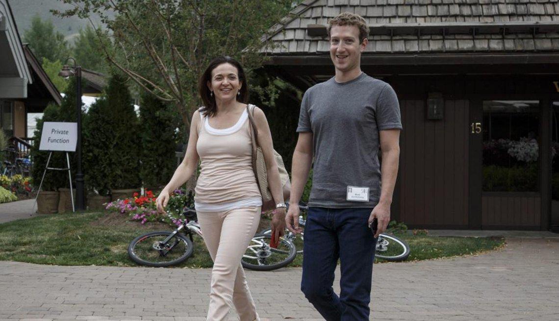 Mark Zuckerberg and Sheryl Sandberg, Facebook founder, Creative Thinking,