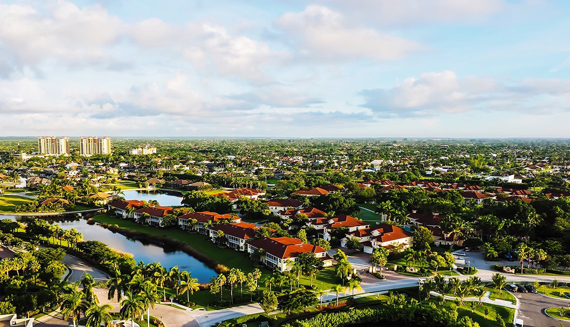 Aerial photo of Cape Coral, Florida