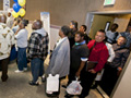 Unemployed people line up for job interviews-Age Discrimination in the Workplace