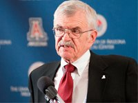 Gene Sander, 78, the new president of the University of Arizona