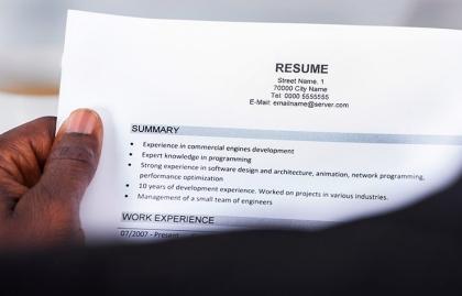 Resume help reading pa
