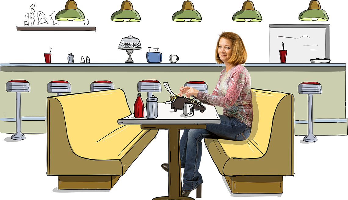 blue collar transformations - Debra Ginsberg, 54, grew up watching her father support the family by waiting tables. Now she's a writer