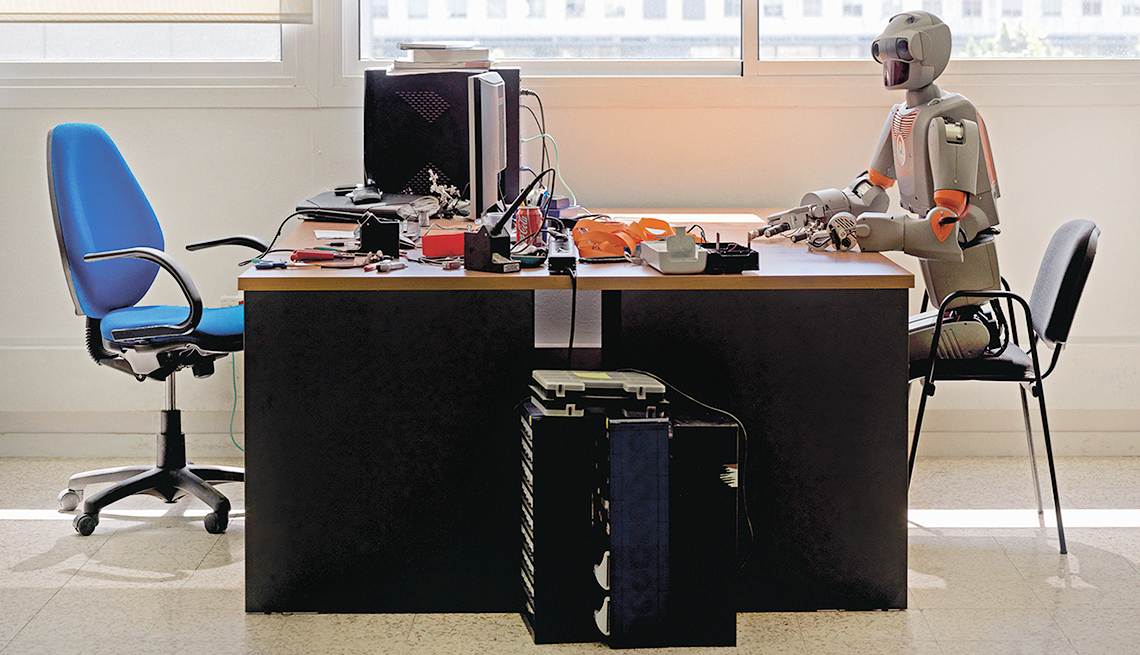 avoid being replaced by a robot at work