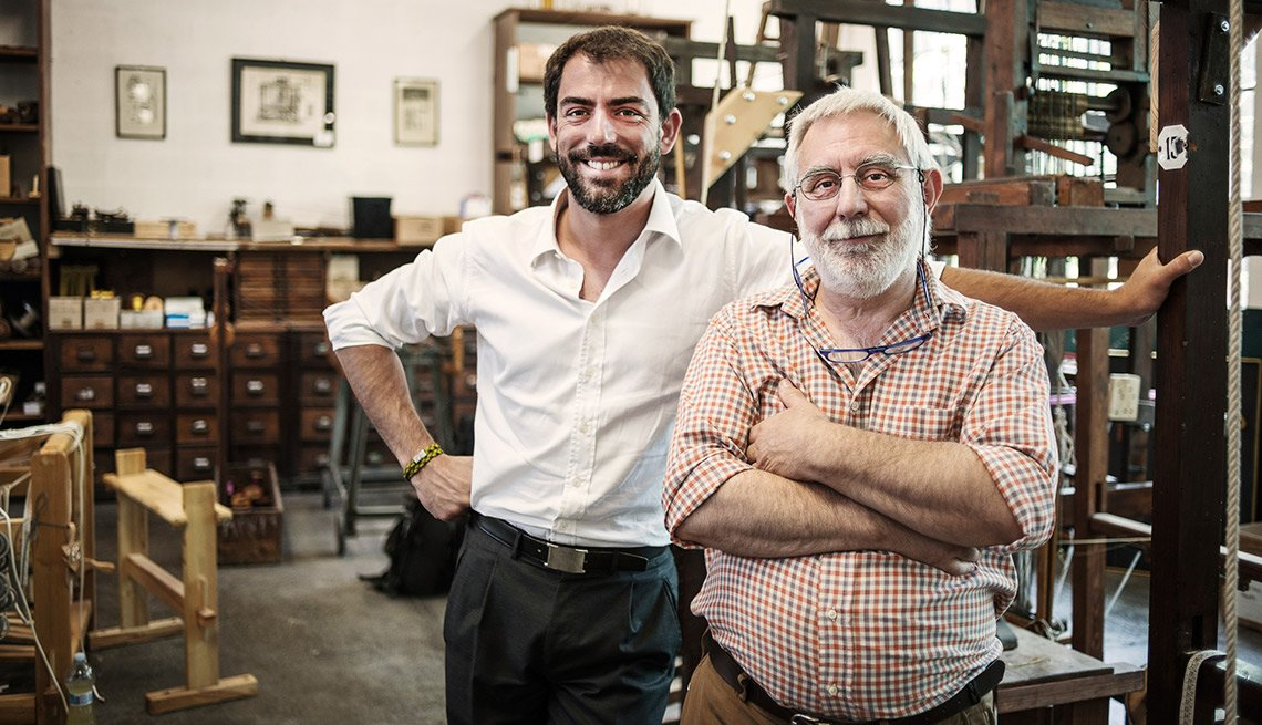 a father and son run a family business