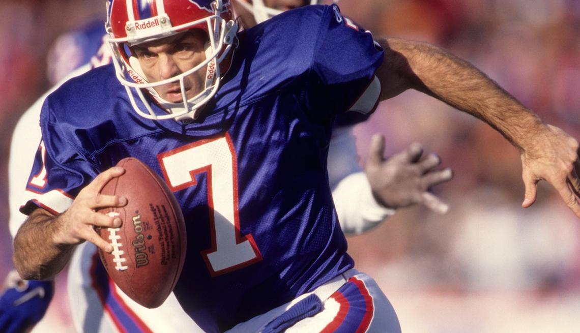 NFL Quarterback Doug Flutie, Running with football