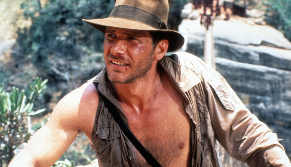 Actor Harrison Ford as Indiana Jones in Raiders of the Lost Arc
