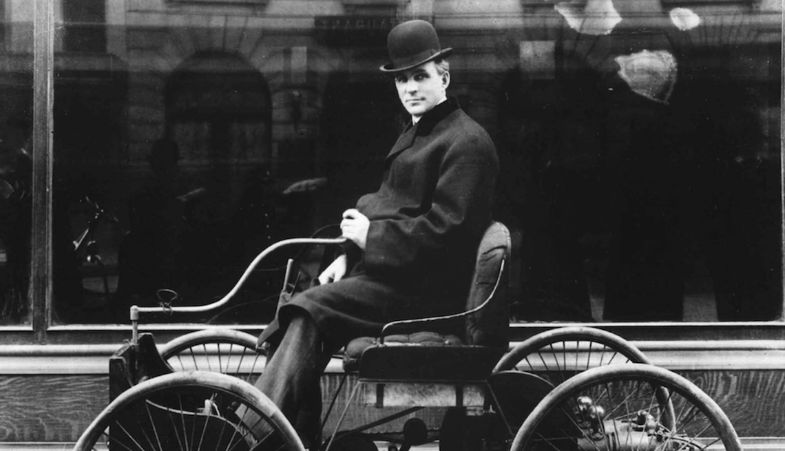 Automaker Henry Ford driving his Quadricycle, Failure is the New Success