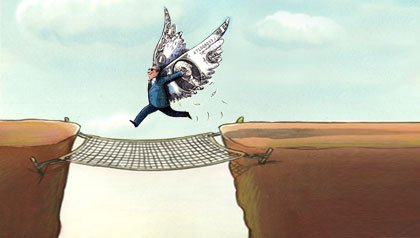 jumping the gap illustration