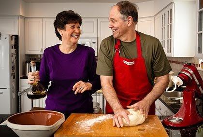 Jubilados cocinando