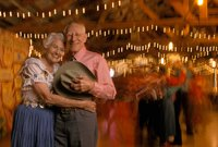 Dancing the night away in Texas, which ties with California as a great place to retire.
