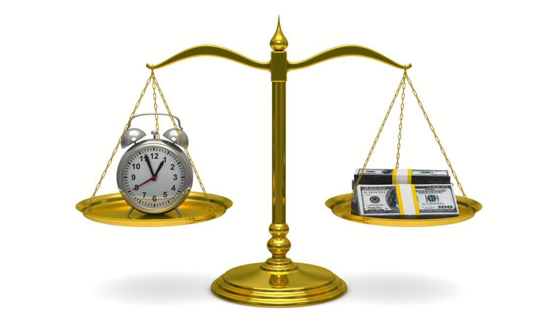 Pesa con reloj y dinero - Errores en la jubilación