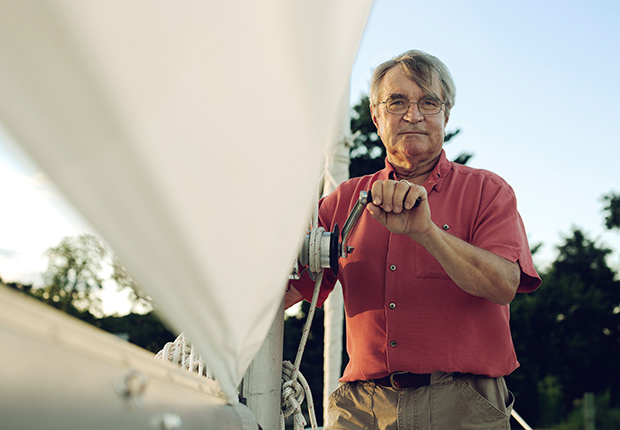 Dick Cooper and sails through retirement dreams on boat