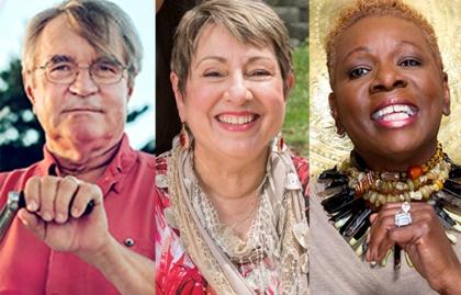 Dick Cooper, Elaine Papp, y Catherine Ledner Elaine Papp - Primer día de la jubilación