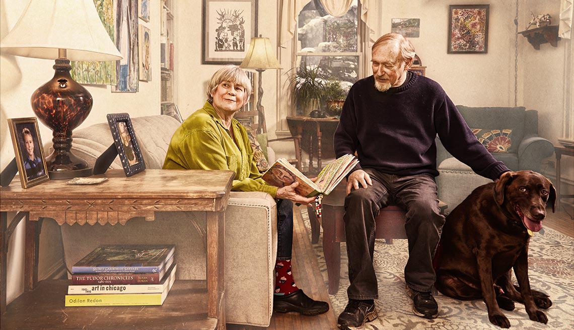 Martha y Byron Grush en su hogar en Delavan, WI - Tener el hogar de tus sueños para el retiro