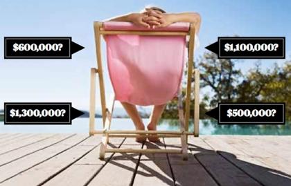 Persona relajándose en un silla frente al mar - Cifra ideal para la jubilación