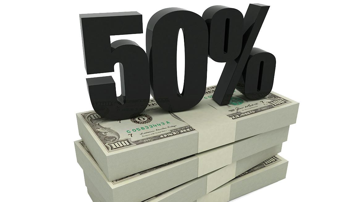 Fajos de dólares con un 50 por ciento encima - Seguro Social ayuda a los cónyuges