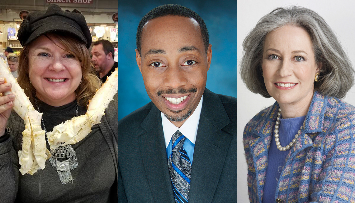 composite of three small business owner photos from left to right  are midgi moore  derrick wilson and dede gotthelf
