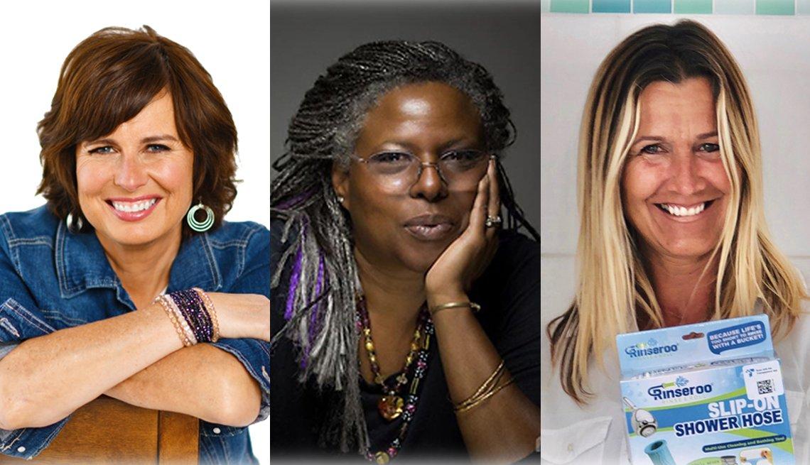 Dueñas de negocios en línea Catherine Graham, Anne Renee Timmons Harris, y Lisa Lane.