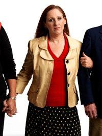 Cindy Sturgeon de 50 años es entrevistada sobre el seguro social.