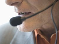 Caller with headset - beware of callers who promise higher social security benefits.