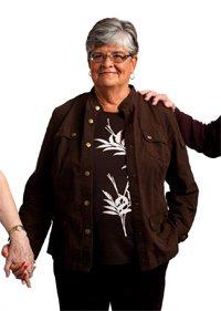 Margie Metzler de 67 años es entrevistada sobre el seguro social.
