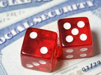 social security cards and dice