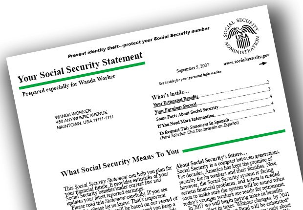 Social Security changes for 2015 - paper statement in mail