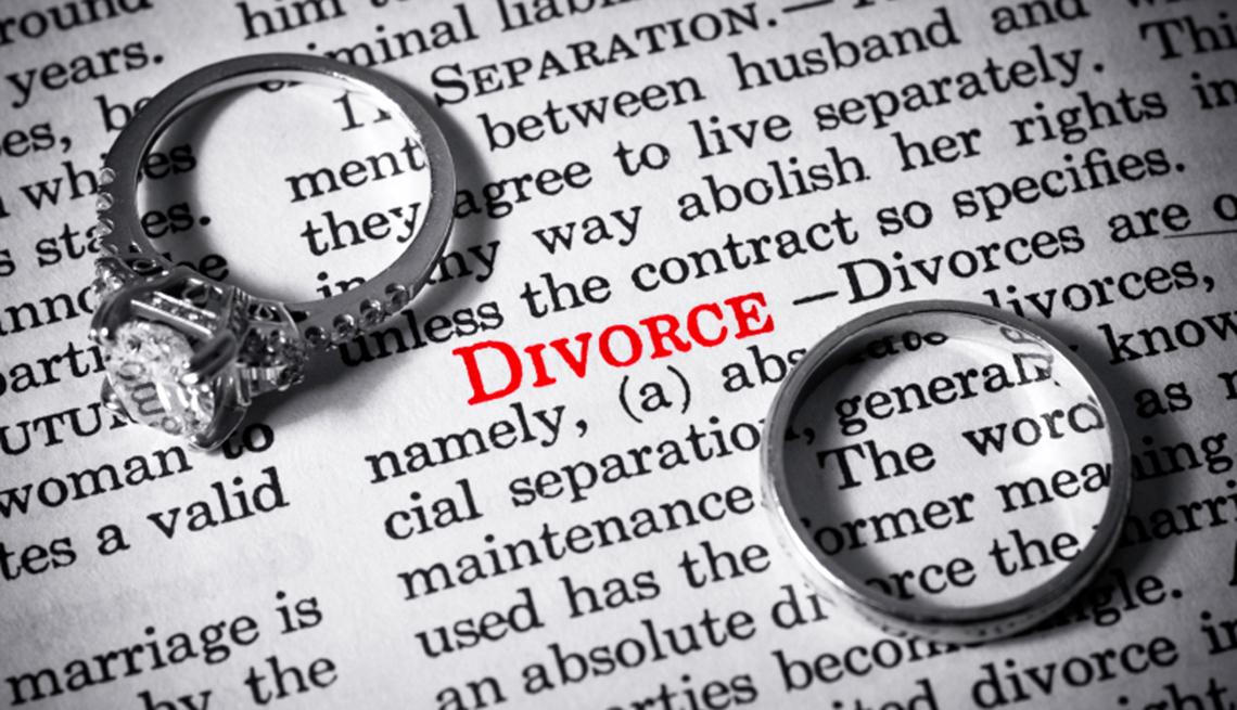 Diccionario con la palabra divorcio